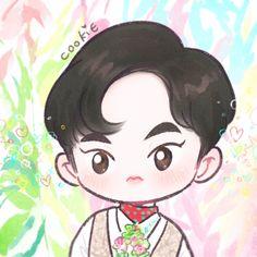 쿠키밥 (@yooocookie) | Twitter Exo Kokobop, Chanyeol Baekhyun, Exo Cartoon, Chibi, 5 Years With Exo, Exo Stickers, Exo Anime, Xiuchen, Exo Fan Art