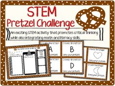 STEM Pretzel Challenge is an exciting way to integrate critical thinking with math and literacy skills. Students must problem solve to create letters, numbers, and shapes using their pretzels. =================================================This pack includes: *Materials & Instructional Guide*Questioning Page (using higher order thinking skills)* Student Draw & Write Response Sheet* Upper & Lowercase Letter Task Cards*Number Task Cards*Shapes Task Cards* Blank Task Cards=========...
