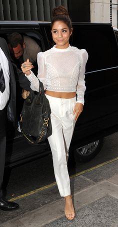 Vanessa Hudgens Stunning In White!
