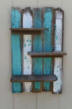 upcycled pallet decorative wall shelf