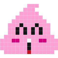 Poop by Crepalunette. Sticker pixel monochrome mat et extra-fin. Se positionne et se décolle facilement, sans laisser de traces. Livré avec quelques Kaz en plus pour chaque couleur et un mode d'emploi. Fuse Bead Patterns, Perler Patterns, Loom Patterns, Beading Patterns, Fuse Beads, Perler Beads, Cross Stitch Designs, Cross Stitch Patterns, Modele Pixel Art