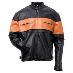 LEATHER MOTORCYCLE JACKET $75
