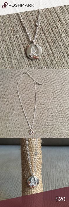 "Necklace Silver ""K"" initial pendant necklace engraved C+I logo Chloe + Isabel Jewelry Necklaces"