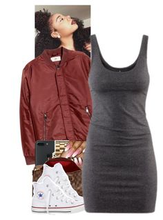 """Untitled #1699"" by toniiiiiiiiiiiiiii ❤ liked on Polyvore featuring Marc by Marc Jacobs, Louis Vuitton, Converse and H&M"