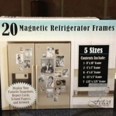 Best thing ever to organize pictures on refrigerator! Clear and magnetic! At Khols