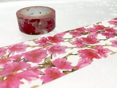 azaleas flower washi tape 7M pink flower blossom by TapesKingdom