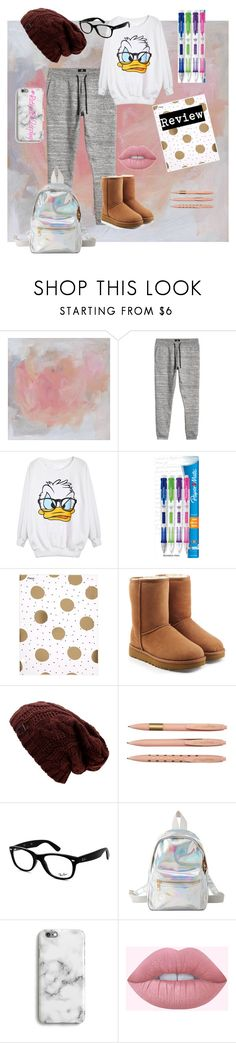 """""""#IHateSchool"""" by people-are-annoying ❤ liked on Polyvore featuring Paper Mate, Mead, UGG, Ray-Ban, Charlotte Russe and Harper & Blake"""