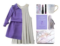 """""""bookworm in purple"""" by jjannata ❤ liked on Polyvore featuring RVCA, Dolce&Gabbana, Vans and Giorgio Armani"""
