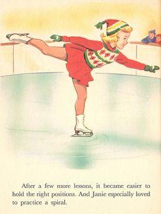 Little Skater Rand McNally Elf Book Illustrated by Dorothy Grider Vintage 1959~~