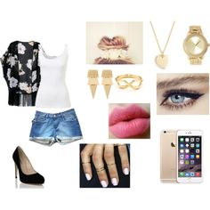 A fashion look from November 2014 featuring kimono robe, jean shorts and heels & pumps. Browse and shop related looks.