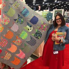 """2,121 Likes, 43 Comments - Tula Pink (@tulapink) on Instagram: """"#TulaPinkTabbyRoad made from @elizabethagh's Quilt Pattern! Check her booth out if you are…"""""""