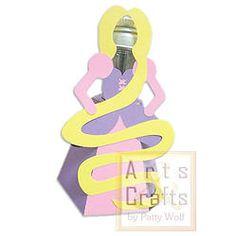 Porta Tubete Rapunzel Projeto de corte no formato GSD, à venda nos sites: http://www.artscrafts.com.br/ e http://www.cortecrie.com.br/
