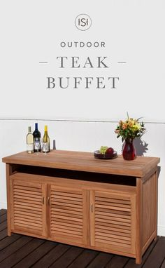Perfect For Spring Parties, This Teak Buffet Features Ample Storage Space  For Dishes, Party
