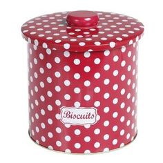 Retro Red Polka Dot Biscuit Tin