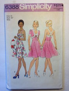 Simplicity Pattern 6388 Misses Short Dress and by SplashOfLuv, $14.99