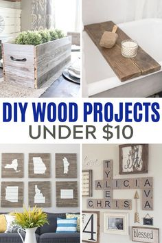 34 awesome DIY wood craft projects that you can make for under $10.  These wood projects are perfect for craft night and we have projects for every room in the house. #diywoodprojects #tendollarwoodprojects Diy Wood Projects, Cheap Apartment Decorating, Home Remodeling, Gothic Home Decor, Target Home Decor, Home Decor Signs, Cheap Rustic Decor, Remodeling Mobile Homes, French Home Decor