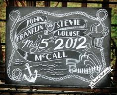 CustomChalk.com Personalized chalkboard sign art - Custom chalkboards for weddings, events, and home decor
