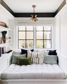 """Cozy reading nook is a perfect place for a little """"me time."""" And the requirement for that small book corner is a whole lot of beauty. Try out these ideas for adults kids or teens in a bedroom living room den window seat home library outdoor porch o Bedroom Nook, Bedroom Decor, Book Corner Ideas Bedroom, Library Bedroom, Bedroom Chair, Bedroom Window Design, Dormer Bedroom, Master Bedroom, Bedroom Seating"""