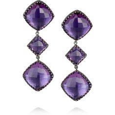 Larkspur & Hawk Marly oxidized sterling silver amethyst earrings ($3,055)