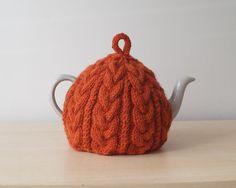 Knitted Tea Cosy Burnt Orange - BAILEY