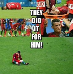 They did it for CR7 <3