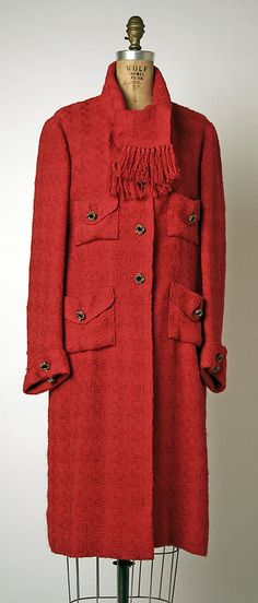 Coat   Gabrielle Chanel (French, 1883-1971)   France, late 1960's   Material: wool   The Metropolitan Museum of Art, New York