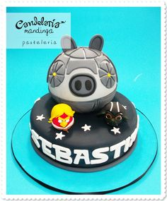 Cake topper ideas using angry birds from that game.  (make sure kids don't eat it, fondant looks similar...probably tastes the same)