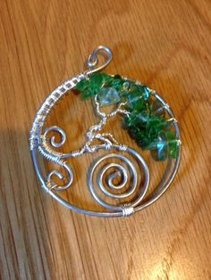 A beautiful double spiralled Tree of Life Pendant from Twisted Wires.