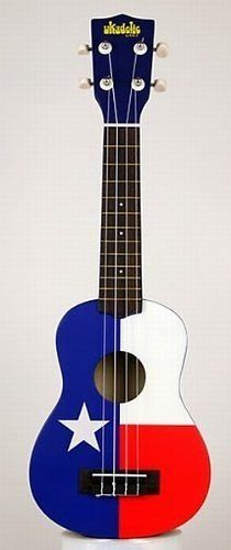 Texas flag soprano ukulele