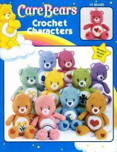 Free Craft eBooks: Care Bears Crochet Characters