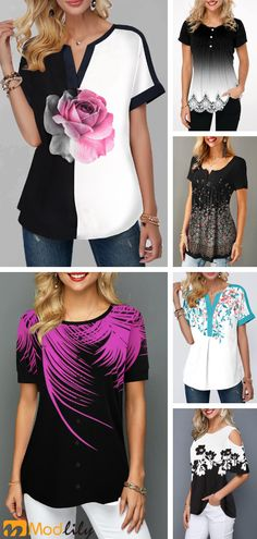 Buy trendy tops for women online with competitive price, ladies tops, cute women tops online store. Fashion Wear, Fashion Dresses, Womens Fashion, Fashion Top, Summer Outfits, Cute Outfits, Casual Outfits, Elisa Cavaletti, Trendy Tops For Women