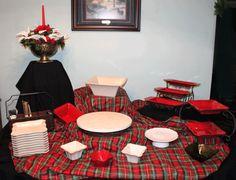 holiday buffet set up