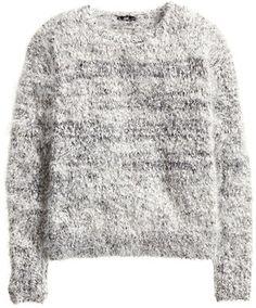 H&M - Knit Sweater - Black/White - Ladies
