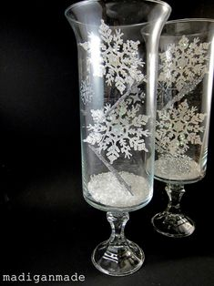 10 simple diy holiday ideas gifts crafts d c3 a3 c2 a9cor madigan made make dollar store #SimpleWedding #IdeasDollarStoresWineGlass Snowflake Centerpieces, Winter Centerpieces, Centerpiece Ideas, Vase Decorations, Frozen Centerpieces, Quince Centerpieces, Winter Wonderland Centerpieces, Wedding Decorations, Winter Wonderland Theme