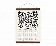 Wall calendar 2016 - Home decor - Cats - A3, A3+ size - 100% recycled paper/ eco friendly home decor by DURIDO on Etsy https://www.etsy.com/listing/209550307/wall-calendar-2016-home-decor-cats-a3-a3