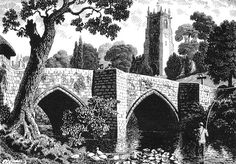 Charles Frederick Tunnicliffe - The Old Bridge, 1949 Nature Artists, Art Nature, Scratchboard Art, British Wildlife, Collage Illustration, Wood Engraving, Country Life, Line Drawing, Art Prints