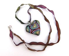"""""""Crazy Heart"""" necklace: help who suffers from a disease called ARVD! http://etsyitaliateam.blogspot.com/2011/07/eit-for-charity-geca-onlus.html #etsy #handmade #etsyitaliateam"""
