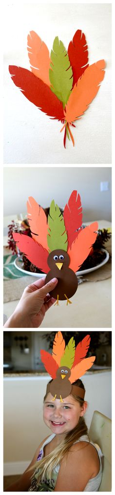 Thanksgiving Turkey Hat, fun hat crafting tutorial perfect for kids, plus Turkey Body Printable (free) to help complete for uncrafty types!