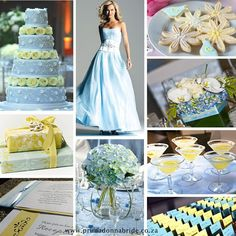 Mags, I know your color is navy instead of light blue, but you could probably take some of these ideas and adapt them to your colors. How pretty is that cake??