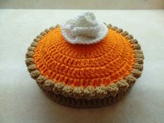 How to Full Size Pumpkin Pie Crochet Pumpkin, Crochet Fall, Holiday Crochet, Halloween Crochet, Cute Crochet, Crochet Crafts, Crochet Toys, Crochet Projects, Learn Crochet