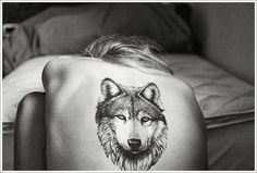 Lone Wolf Face Tattoo