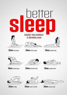 Easy Yoga Workout - Dormez mieux grâce au yoga : quelques exercices simple pour améliorer votre sommeil ! Sleep better thanks to yoga : some simple exercises to help you get a better sleep. Get your sexiest body ever without,crunches,cardio,or ever setting foot in a gym