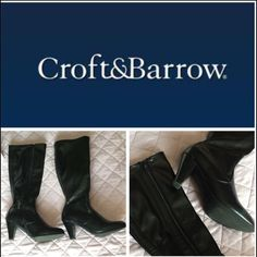 Sexy Boots Croft & Barrow High Heel Boots  Size 6.5 LIKE NEW! Fits a little bit below the Knee. Heel Height is like 3inches tall  Has small scratches on right side of the left boot and left side of the right boot.   If you are a Size 6 they can fit if you wear some thik socks with it. I am a size 6 and They fit fine with the socks.  I Only wore it for New Years Dinner and after that they just been in the box in my closet so i decided to get rid of them.  ORIGINAL PRICE = $85!!!!  (Merc..ari)…