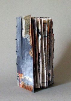 Linda Welch • April 2010 Solo Show Paper Book, Paper Art, Anselm Kiefer, Altered Book Art, Book Sculpture, Book Making, Journal Inspiration, Art Journals, Handmade Art