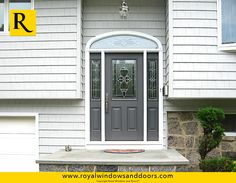 Single Entry Door, Two Side Lites, Transom, Color Finish, Designer Glass Entry Doors With Glass, Exterior Doors, Door Design, Long Island, Windows And Doors, Garage Doors, It Is Finished, Indoor, Rustic