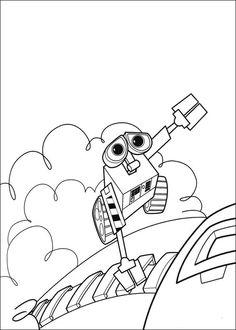 Wall-E Tegninger til Farvelægning. Printbare Farvelægning for børn. Tegninger til udskriv og farve nº 20