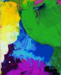 Gerhard Ritcher  Sinbad: 2008. Enamel on back of Glass  Exhibition - 98 paintings, 1 Room
