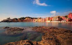 تحميل خلفيات سيستري ليفانتي, الميناء, صباح, شروق الشمس, البحر, جنوى, إيطاليا, البحر الليغوري, ليغوريا