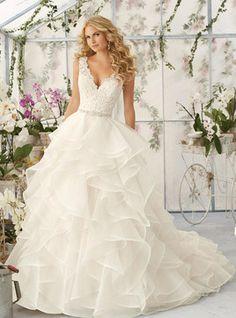 Vestido de noiva Cauda Pequeno Sem Costas Baile de Organza
