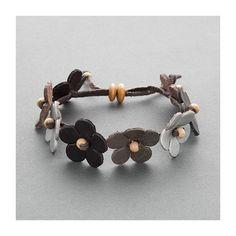 DIY boho flower bracelet